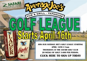 Average Joe's Golf League @ Safari Golf Club